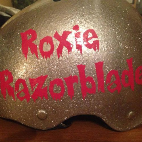 Custom Font, Roller Derby Red Vinyl
