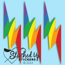 rainbow lightning bolt sticker_cw