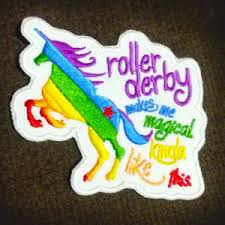 magical unicorn roller derby patch