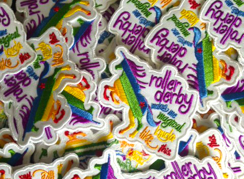 Rainbow Unicorn Roller Derby Patches