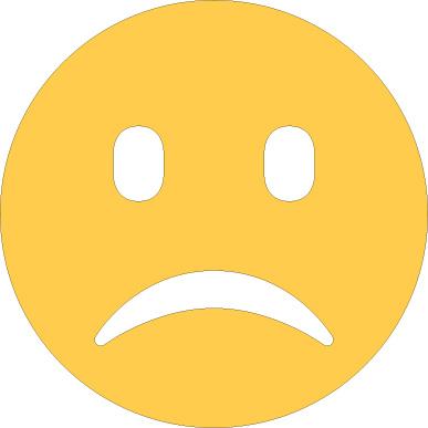 Frowning emoji sticker
