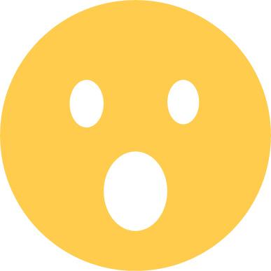 open mouth emoji sticker