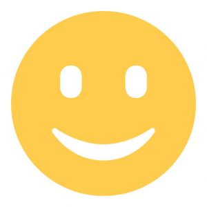 Smiley emoji sticker