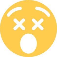 dizzy face sticker