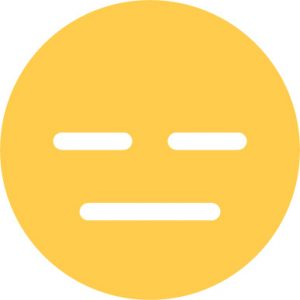 expressionless emoji sticker