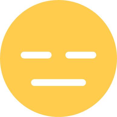 expressionless emoji sticker