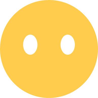 No mouth emoji sticker