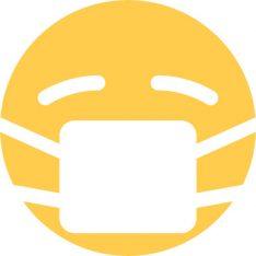 Sick emoji sticker