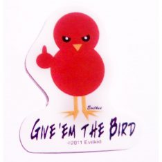 Give em the bird mini sticker