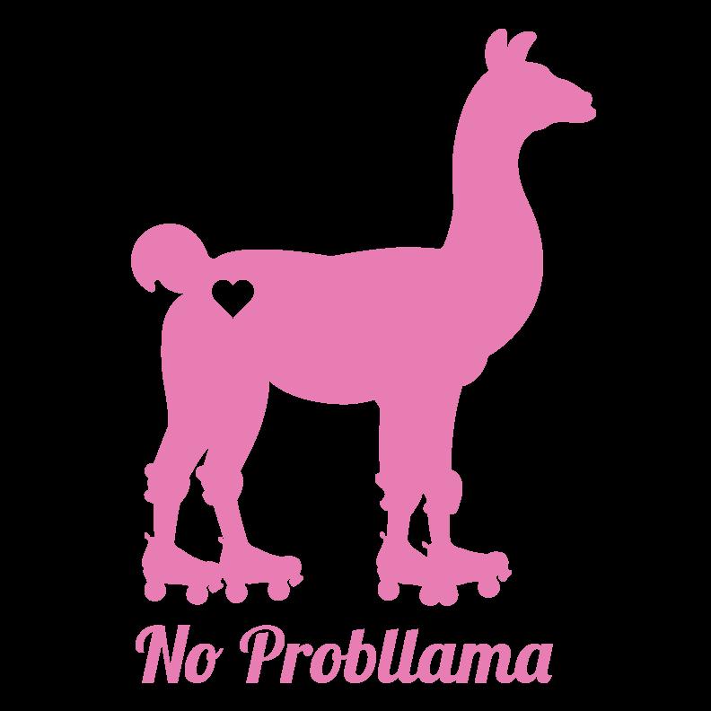 roller derby llama sticker