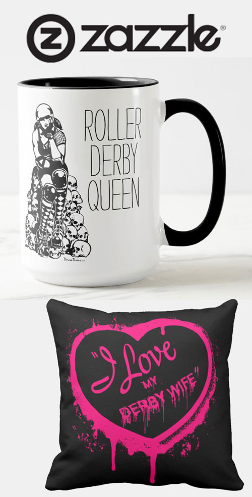 Roller Derby Stickers and Gifts on Zazzle