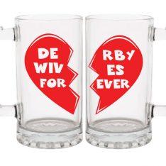 Roller Derby Wife Gift - 32 oz mug set - Derby Wives Forever