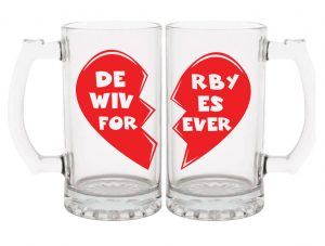 Roller Derby Wife Gift - 32 oz mug set - Derby Wives Forever