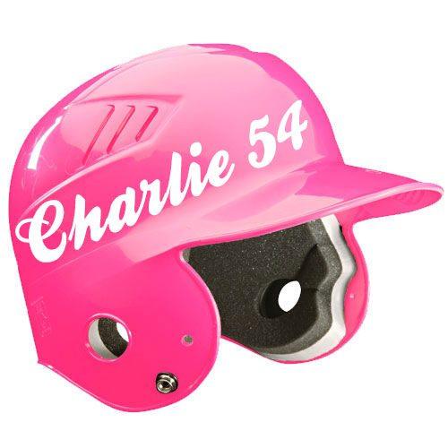 Kids softball helmet name
