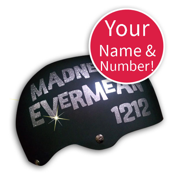 Derby Name and Number Vinyl Sticker - Pick Color and font