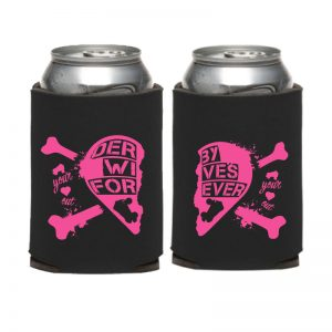 Roller Derby Wife Koozie Pair